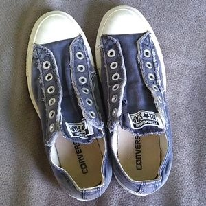Blue no lace converse